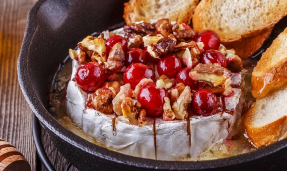 Baked Cherry and Walnut Brie