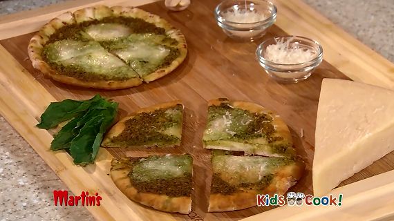 Kids Cook: Green Mozzarella Pizza